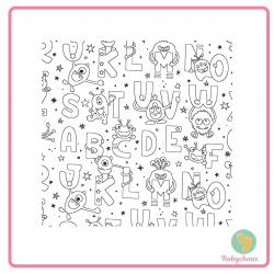 Feuille de coloriage alphabet monstre lavable, coloriage réutilisable